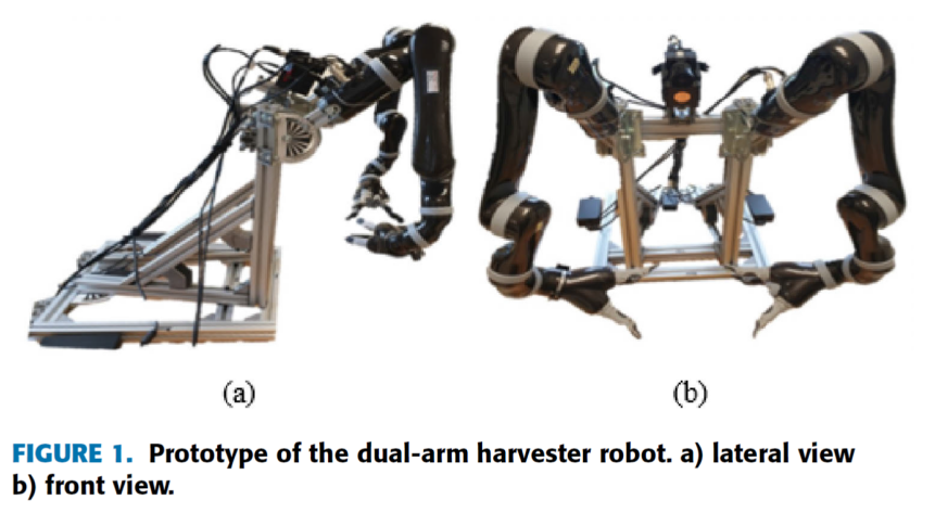2つのエンドエフェクターを持つ、ナス自動収穫ロボットの研究