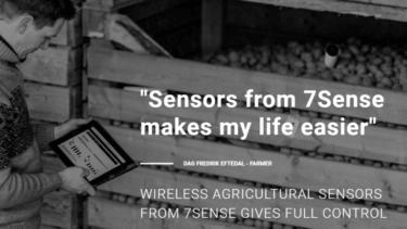 保管中の作物の品質を維持するための農業用無線センサーを開発する7Sense社について解説