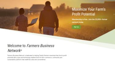 農家間の農学的情報ネットワーク上で価格データを提供するFarmers Business Network社について解説