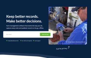 畜産農場管理ソフトウェアを開発・運営するAgriWebb社について解説